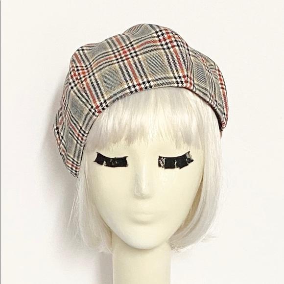 Plaid Beret Hat